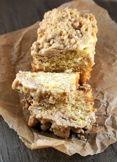 "eggnog ny crumb cake w/ spiced rum glaze ~ Judith's comment: please do yourself a favour and save/pin/print this recipe, you will ""need"" it for Holiday gifts to YOURSELF and others. it's that delicious!"