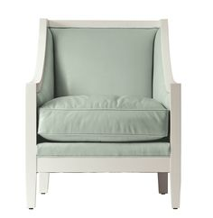Custom Upholstered Louise Chair in Designer Leathers| Serena & Lily