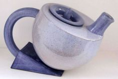 Ceramics by Richard Baxter at Studiopottery.co.uk - 2012. Blueware one off teapot, 4 cups, 13cm tall. (b010b)