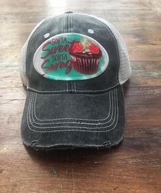 695fb8f099a Sorta Sweet Sorta Savage Distressed Trucker Cap