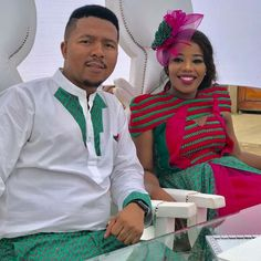 ♥️ African Wear, African Attire, African Fashion Dresses, African Dress, Xhosa, African Weddings, Traditional Wedding Dresses, Weeding, Hats