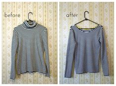 Here's a quick makeover for you! I've been on the lookout for a striped shirt and well, I wasn't really finding what I wanted. So instead of...