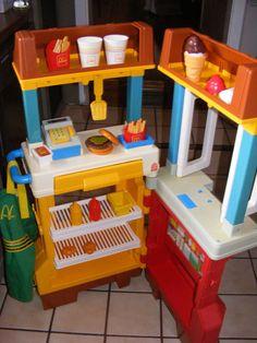 Vintage Fisher Price McDonald's Drive Thru Restaurant Playset