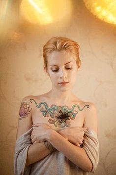 Goth Girl With Big Tatoo