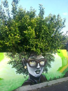 Arte urbano con plantas