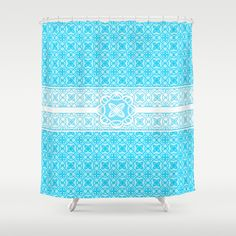Teal Pattern 3   Shower Curtain by InDepth Designs - $68.00