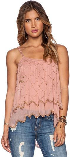 The pink tank with sequins