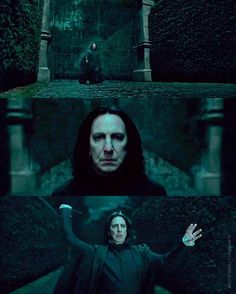 """I would just like to say that even while I everyone was cursing Snape for killing Dumbledore and saying """"I knew it all along! Ron was right!"""" I always knew in my heart that he was a good guy. Severus Snape Always, Professor Severus Snape, Harry Potter Severus Snape, Severus Rogue, Alan Rickman Severus Snape, Harry Potter Quotes, Harry Potter Characters, Harry Potter Universal, Harry Potter Fandom"""