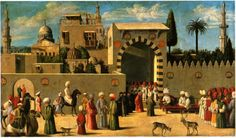 Anonymous Late century Venetian Painter, Reception of the Venetian Ambassador in Damascus, Paris, Louvre Venetian Painters, Renaissance, Academic Art, Cultural Studies, North Africa, 16th Century, Belle Photo, Les Oeuvres, Art History
