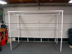 How to Create a Paint Booth in Your Garage. A paint booth can help you create clean and smooth paint jobs for your projects without getting paint all over everything. To build a booth in your garage, try creating a frame out of PVC pipe,. Garage Paint, Pvc Paint, Diy Garage, Garage Ideas, Diy Paint Booth, Spray Paint Booth, Portable Paint Booth, Painting Station, Homemade Paint