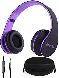 Headphones, BestGot Headphones for Kids Adult with Microp...