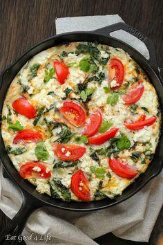 Eat Good 4 Life Kale goat cheese tomato frittata
