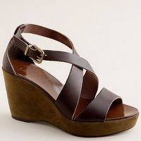 leather wedges by JCrew