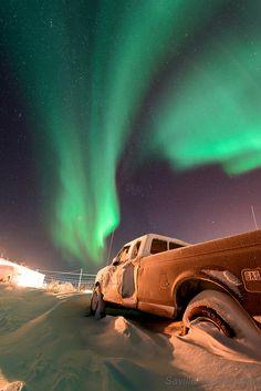 Aurora Borealis here in Tuktoyaktuk, Northwest Territories