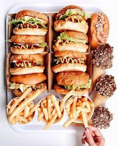 burger, fries, ice cream, hot dog, tumblr, food, photography, instagram, junk food