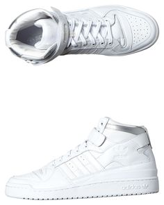 best service 0d4ca 1b34c Mens Adidas Originals Forum Mid Refined Shoe White Leather. Latest Fashion  Clothing and Accessories for Men