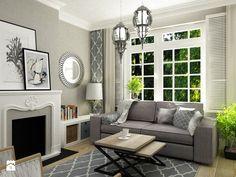 Salon styl Eklektyczny - zdjęcie od Grafika i Projekt architektura wnętrz