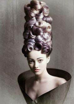 Creative Hairstyles, Up Hairstyles, Avant Garde Hair, High Hair, Extreme Hair, Fantasy Hair, Fantasy Makeup, Estilo Fashion, Hair Shows