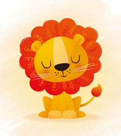 Nursery art Lion print kids illustration kids by IreneGoughPrints