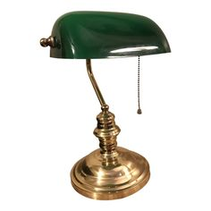 Shop desk lamps at Chairish, the design lover's marketplace for the best vintage and used furniture, decor and art. Lampe Art Deco, Art Deco Lamps, Bankers Desk Lamp, Chandeliers, Diy Art, Piano Lamps, Green Desk, Art Nouveau, Vintage Green Glass
