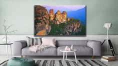 """Australia and its endless beauty. This is """"The Blue Mountains"""" and you can find it at Canvas Art Prints, Canvas Wall Art, Blue Mountain, Best Sellers, Landscapes, Tapestry, Australia, Couch, Mountains"""
