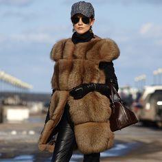 A big fur vest
