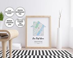 Trendy Printable Art / Designer Wall Decor / Art by PrintsPhotoTK Housewarming Gift Ideas First Home, Housewarming Gifts For Couples, Personalized Housewarming Gifts, First Home Gifts, Anniversary Gifts For Couples, New Home Gifts, Map Wall Art, Wall Art Decor, Map Art