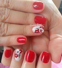 Gorgeous Nails, Pretty Nails, Fashion Painting, Easy Nail Art, Mani Pedi, Nail Arts, Spring Nails, Ruby Red, Toe Nails