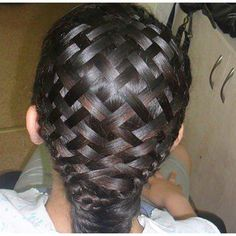 This is a basket weave braid. It's better to do when your hair is wet. And yes, it is real hair! Love Hair, Great Hair, Gorgeous Hair, Awesome Hair, Diy Braids, Cool Braids, Crochet Braids, Crazy Braids, Unique Braids