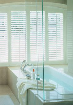 While Woodbury Shutters can only be painted and not stained, the advantage is that it won't fade or change colour. Interior Shutters, Window Shutters, Custom Windows, Home Values, Color Change, Blinds, Improve Yourself, Curtains, Interior Design