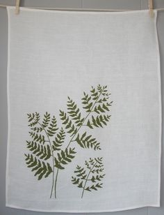 hand printed linen towel
