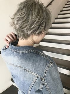 Pin on hairstyle Pin on hairstyle Tomboy Hairstyles, Short Bob Hairstyles, Pretty Hairstyles, Haircuts, Short Hair Hacks, Short Hair Cuts, Shot Hair Styles, Curly Hair Styles, Androgynous Hair