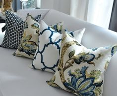 20sq Schumacher BETWIXT pillow cover in Indigo by woodyliana, $60.00
