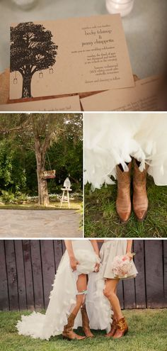 Country Chic Wedding in Tennessee | WeddingWire: The Blog. The invite