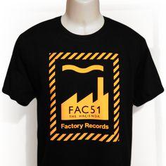 FAC51 FACTORY RECORDS The Hacienda Manchester Gildan Heavy Hoodie Sizes S-XXL