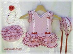 Traje de flamenca para bebes Baby Bloomers, Princess Party, Couture, Belly Dance, Plus Size, Womens Fashion, Kids, Clothes, Dresses