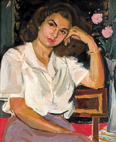 View Portrait of Miss N. with two roses by Yannis Tsarouchis on artnet. Browse upcoming and past auction lots by Yannis Tsarouchis. Figure Painting, Painting & Drawing, Contemporary Decorative Art, Greek Paintings, Two Roses, Painter Artist, Portraits, Greek Art, Naive Art