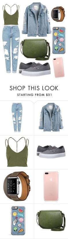 """""""Untitled #17"""" by devy-sapta on Polyvore featuring Topshop, River Island and Vans"""