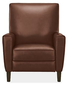 Harper Tall Back Recliner in Portofino Leather - Modern Recliners & Lounge Chairs - Modern Living Room Furniture - Room & Board