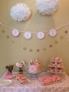 Pink and gold baby shower.
