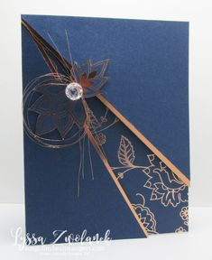 Layered Slash Layout is a knockout with copper embossed papers