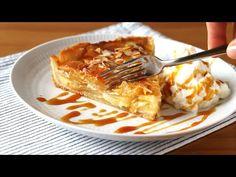 Os traigo una tarta muy jugosa y fácil de manzana con crema. Una delicia ideal para el otoño, con caramelo, vainilla, almendra... No Bake Desserts, Delicious Desserts, Cookie Pie, Flan, Something Sweet, Apple Pie, Deserts, Food And Drink, Healthy Recipes