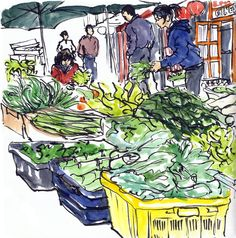 Urban Sketchers: Sketchcrawl in Chinatown