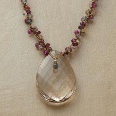 smoky quartz centerpiece necklace