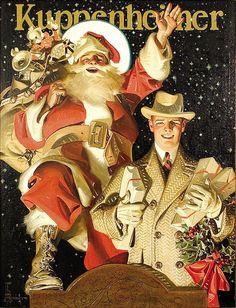 Merry Christmas from Kuppenheimer's, c.1924 J.C. Leyendecker