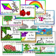 Kindergarten Number Order Puzzles -These puzzles practice number order, counting, and recognition skills for numbers 1-100. Also puzzles to help work on skip counting by 2s, 5s, and 10s. The puzzles include counting 2-50, 5-50, and 10-200. (From Confessions of a Homeschooler)