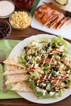BBQ Ranch Chicken Salad on MyRecipeMagic.com