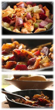 Receitas ao Desafio: Legumes assados na sertã