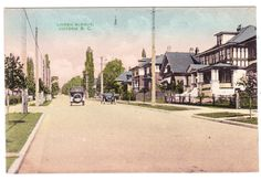 BC – VICTORIA, 800 Block Linden Avenue c.1910s PPC Medieval, Victoria British Columbia, Emily Carr, Vancouver Island, Main Street, Ontario, Photographs, Canada, History