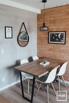 Home Living Room, Living Room Decor, Dinner Room, Studio Apartment Decorating, Dining Room Design, Luz Natural, Kitchen Decor, Sweet Home, Toque